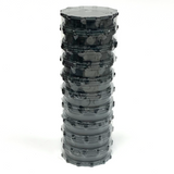 Large Acrylic Herb Grinder GREY (10 PACK)