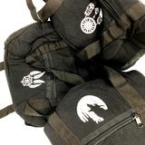 "10"" Black Padded Cotton Bag Paykoc"