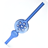Blue Waffle Iron Glass Straw Nectar Collector