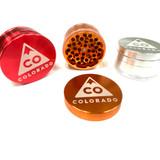 """Premium Four Piece Colorado Aluminum Grinder 2"""" Assorted Colors"""