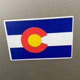 "Colorado Flag Printed Flexible Magnet Colorado Made 3""x4"""