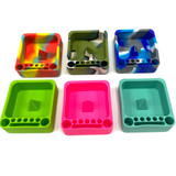 """Knockout Bowl Pokey Silicone Ashtray with Tool Area 3""""x 3.25"""" Assorted Color 1 Count"""