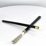 """Large 6.5"""" Black Lucite Cigarette Holder"""