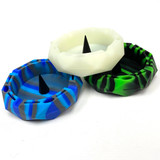 Silicone Hexagon Unbowler Style Ashtray (Assorted Colors) 1 Count