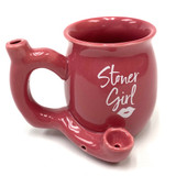 Stoner Girl White and Gold Roast and Toast Mug