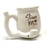 Stoner Mom White and Gold Mug