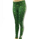 3 Stripe Green Pot Leaf Marijuana Weed Leaf Pants Leggings One Size Fits Most