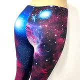Pink Purple Nebula Space Pants Leggings One Size Fits Most
