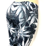 Grey Pot Leaf Marijuana Weed Pants Leggings One Size Fits Most