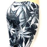 Grey Pot Leaf Marijuana Weed Pants Leggings One Size Fits Most