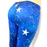 Night Sky Star Constellation Blue Pants Leggings One Size Fits Most
