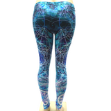 Green Purple Mandala Space Pants Leggings One Size Fits Most