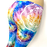 Rainbow Mandala Tie Dye Hippy Pants Leggings One Size Fits Most