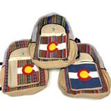 Colorado 100% Hemp BackPack Bag Nepal Assorted Designs 1 Count
