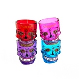 Colorful Colorado Heritage Sugar Skull Shot Glass 1 Count Assorted Colors