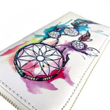 """Colorful Dream Catcher Leather Women's Wallet Clutch 8"""""""