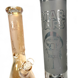 """Thick Sand Carved 9MM 13"""" Beaker Water Pipes"""
