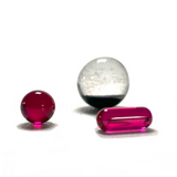 Dicro Ball with Real Ruby Pill Set of 3 (1 x Assorted Color 3 Piece Set )