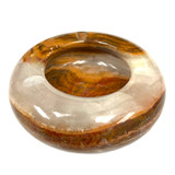 """Banded Onyx Round Ashtray Hand Made in Turkey 5"""" 1 Count"""
