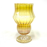 """Fumed Juicebox Scalloped Goblet 5.5""""-6"""" Tall Colorado Blown 1 Piece Assorted"""