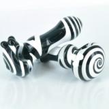 "4"" Black and White Glass Handpipe"