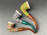 Wavy Gravy Fimo Clay and Meerschaum Pipes