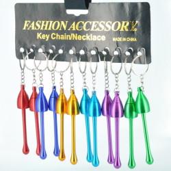 Mushroom Key Chain Necklace