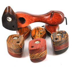 """Notched Skytopper Wood Pipe with Screen Top  4"""" - USA Made 1 Count Assorted"""