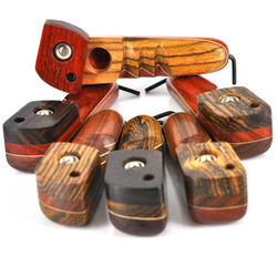 """Skytopper Wood Pipe with Wind Proof Screen 4"""" - USA Made 1 Count Assorted"""