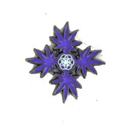 Chakra Leaves Hat Pin Purple