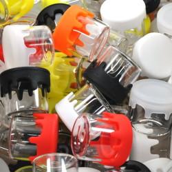 5ml Glass Jar w/ Drip Silicone Lid (100 PK)