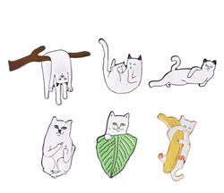 """Lord Nermal Cat 6 Piece Hat Pin Set 1.1"""""""