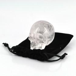 "1.9"" Clear Quartz Skull w/Pouch"