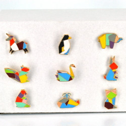 Origami Animal Colorful Hat Pins, Assorted