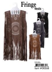 Fringe Vest Faux Leather