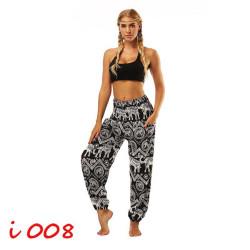 Black & White Elephants Harem Pants (One Size) YCI-008