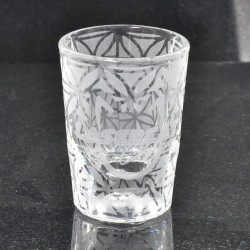 Sacred Geometry Laser Engraved Libbey 5126 2oz Shot Glass (Full Wrap With Custom Logo)