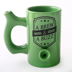 A BREW AND A BUZZ BEER MUG 82371