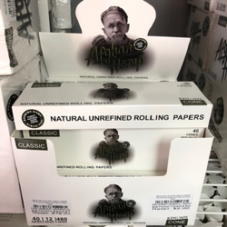 Afghan Hemp King Size Natural Unrefined Cone Rolling Papers Multi Pack (12 Pack Case)