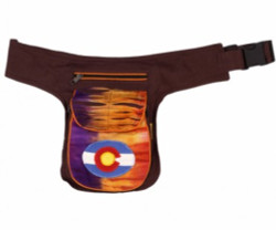 Cotton Fanny Pack w/ Colorado Flag, Assorted