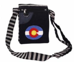 Cotton Colorado Flag Passport Bag