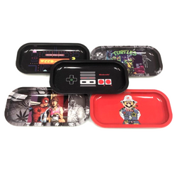 Small Tin Rolling Tray (Assorted Styles)
