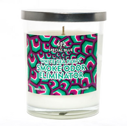 White Tea Party Candle Special Blue