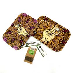 """Magnetic Rolling Tray 9""""V3 (PURPLE & GOLD)"""