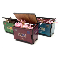 "Desk Qtip ISO Dab Dumpstar Dumpster Printed Cedar Box 4.25"" x 3"" - USA Made 1 Count Assorted Color"