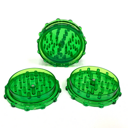 Large Acrylic Herb Grinder GREEN (10 PACK)