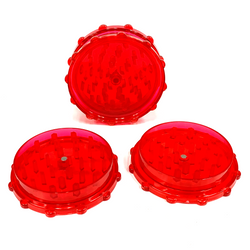 Large Acrylic Herb Grinder RED (10 PACK)