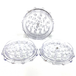 Large Acrylic Herb Grinder CLEAR (10 PACK)