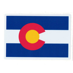 "Colorado Flag High Quality Sticker 2.75"" x 4"""