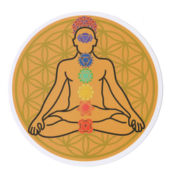 Chakra Flower Of Life Sticky Boy High Quality Sticker